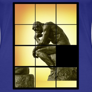 Le penseur The Thinker, decals puzzle game T-Shirts - Women's Premium T-Shirt