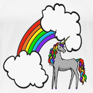 Rainbow Unicorn T-Shirts - Women's Premium T-Shirt