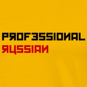 Professional Russian small - Black type - Mannen Premium T-shirt