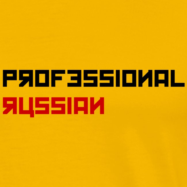 Professional Russian small - Black type