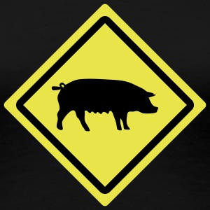 swine roadsign T-Shirts - Frauen Premium T-Shirt