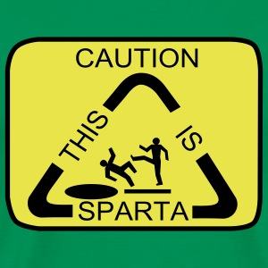 Caution this Sparta - Männer Premium T-Shirt