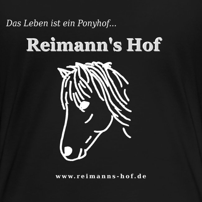 Damen T-Shirt gross -Ponykopf-