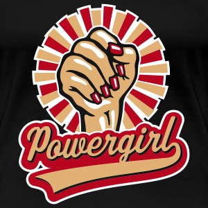 Powergirl Frauenfaust / Women's Fist, Girlie-T-Shirt - Frauen Premium T-Shirt