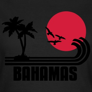 Bahamas, palm trees, sun beach retro design, wanderlust. T-Shirts - Women's T-Shirt