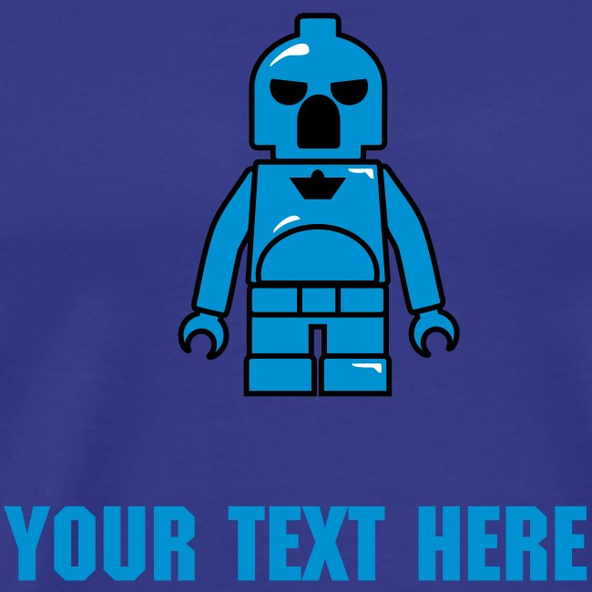 Blue Plastic Toy Space Soldier
