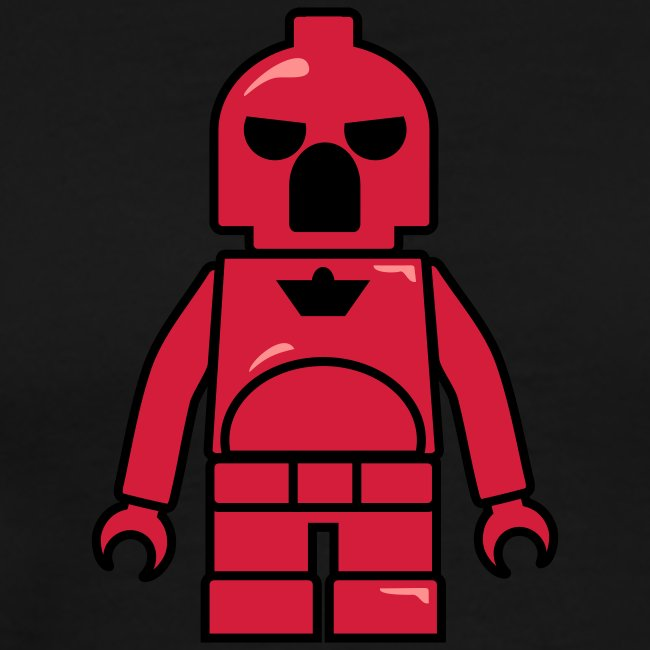 Red Plastic Toy Space Soldier