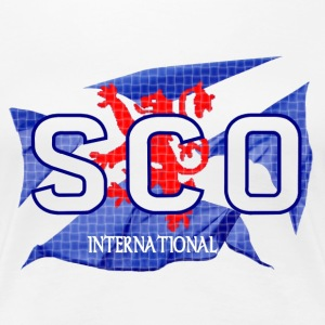 Scotland International Saltire Flag Design Ladies Tee - Women's Premium T-Shirt
