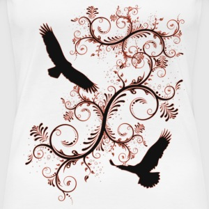freedom birds with red - Vrouwen Premium T-shirt