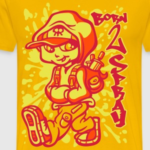 Born 2 spray orange - T-shirt Premium Homme