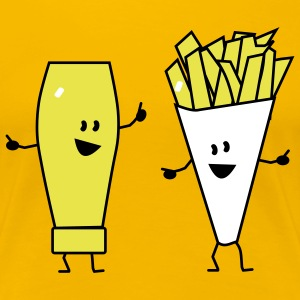 mayonnaise french fries T-shirts - Vrouwen Premium T-shirt