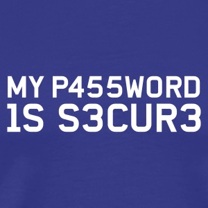 My Password is secure (Block) - Männer Premium T-Shirt