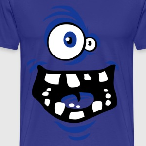 Funny Monster T-shirt dark blue - Mannen Premium T-shirt