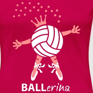 VolleyBALLerina T-Shirts - Frauen Premium T-Shirt