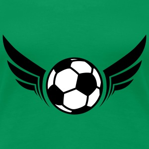 Fussball Schwingen | Wings of Soccer T-Shirts - Vrouwen Premium T-shirt