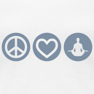 Peace | Love | Yoga | Frieden | Liebe | Chillen T-Shirts - Frauen Premium T-Shirt