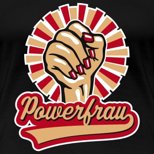 Powerfrau Frauen-Faust, Girlie-T-Shirt - Frauen Premium T-Shirt