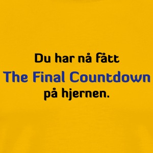 Final Countdown på hjernen - Premium T-skjorte for menn