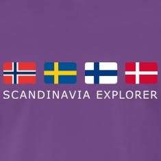Classic T-Shirt SCANDINAVIA EXPLORER white-lettered