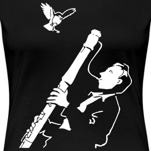 Black Sax Jazz T-Shirts - Women's Premium T-Shirt