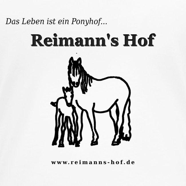 Damen Girlie Shirt Reimann's Hof -Stute mit Fohlen-