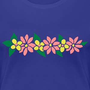 Hawaiian lei  party decoration by Patjila T-Shirts - Women's Premium T-Shirt