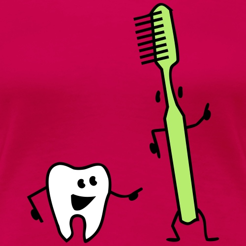 tooth and toothbrush