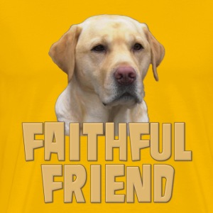 Yellow Lab Faithful Friend T-Shirts - Men's Premium T-Shirt