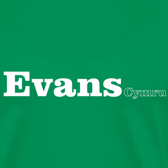 Evans Cymru white text