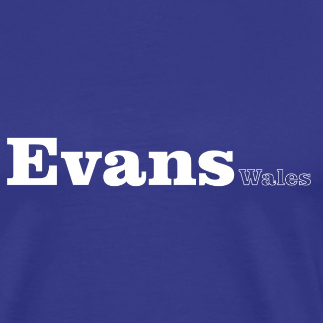 Evans Wales white text