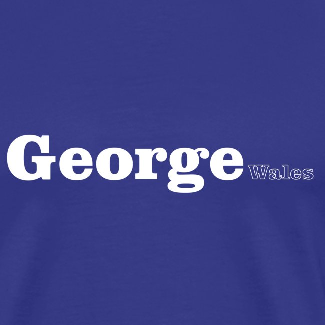 George Wales white text