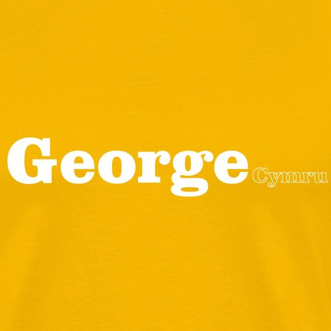 George Cymru white text