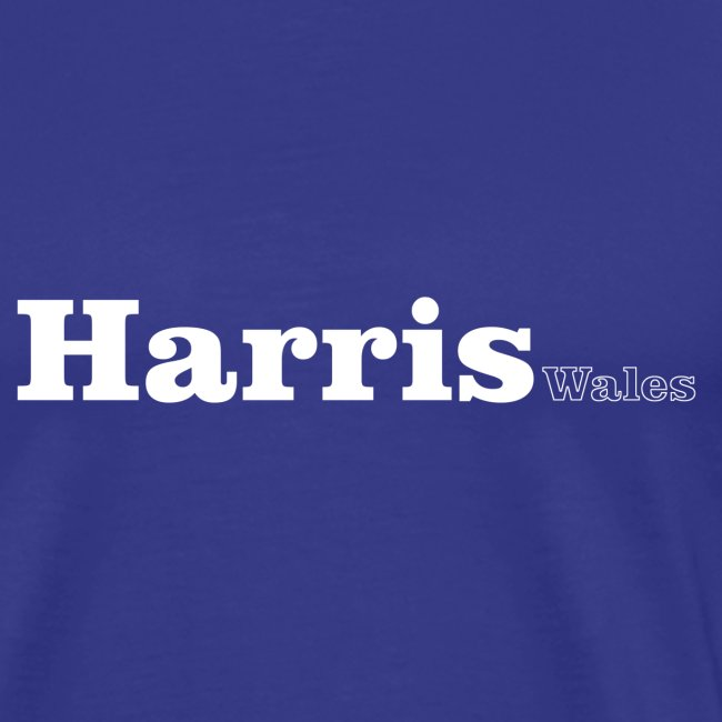 Harris Wales white text