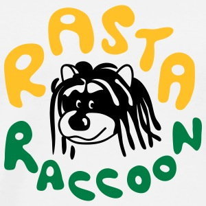 Rasta Raccoon T-Shirts - Men's Premium T-Shirt