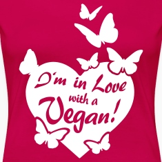 I'm in Love with a Vegan! - butterflies T-Shirts