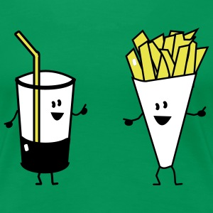 french fries drink Camisetas - Camiseta premium mujer