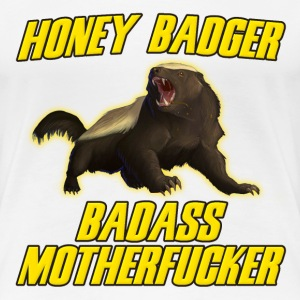 Honey Badger Badass Motherfucker T-Shirts - Women's Premium T-Shirt