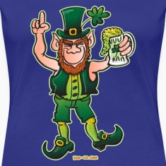 Saint Patrick's Day Leprechaun Drinking Beer T-Shirts