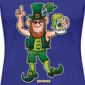 Saint Patrick's Day Leprechaun Drinking Beer T-Shirts - Women's Premium T-Shirt