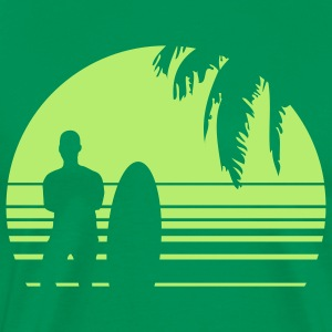 BEACH SURFING BOY PALME 1C T-Shirts - Men's Premium T-Shirt