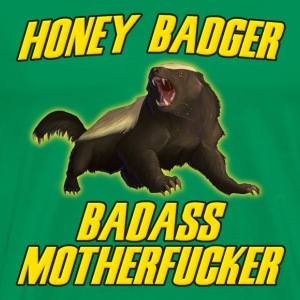 Honey Badger Badass Motherfucker T-Shirts - Men's Premium T-Shirt