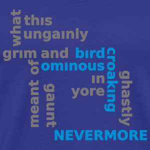 Typo Shirt - Poe: The Raven T-shirts - Mannen Premium T-shirt