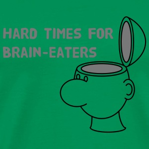 Hard Times for Brain-Eaters T-shirts - Herre premium T-shirt