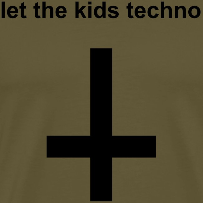 Let the kids techno! Festival t-shirt