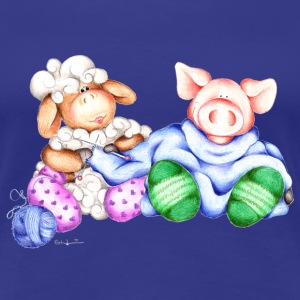 The Pig and the Sheep Camisetas - Camiseta premium mujer