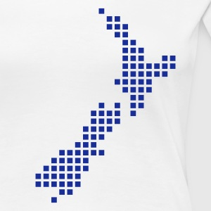 Bianco New Zealand pixel map T-shirt - Maglietta Premium da donna