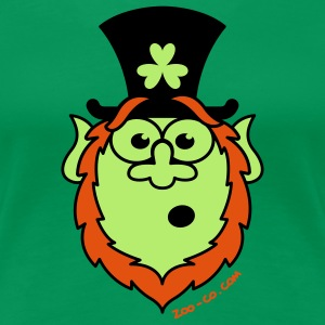 St Paddy's Day Surprised Leprechaun T-Shirts - Women's Premium T-Shirt