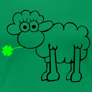 Sheep with clover T-Shirts - Women's Premium T-Shirt