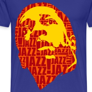 Jazz only orange - Men's Premium T-Shirt