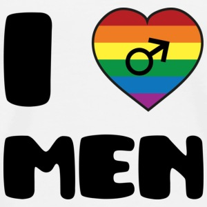 I Love Men :) T-shirts - Premium-T-shirt herr